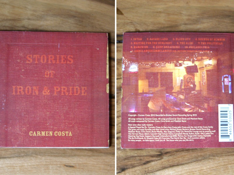 "Carmen Costa ""Stories of Iron and Pride"" Album Design"