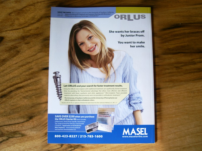 ORLUS Back Cover Publication Ad