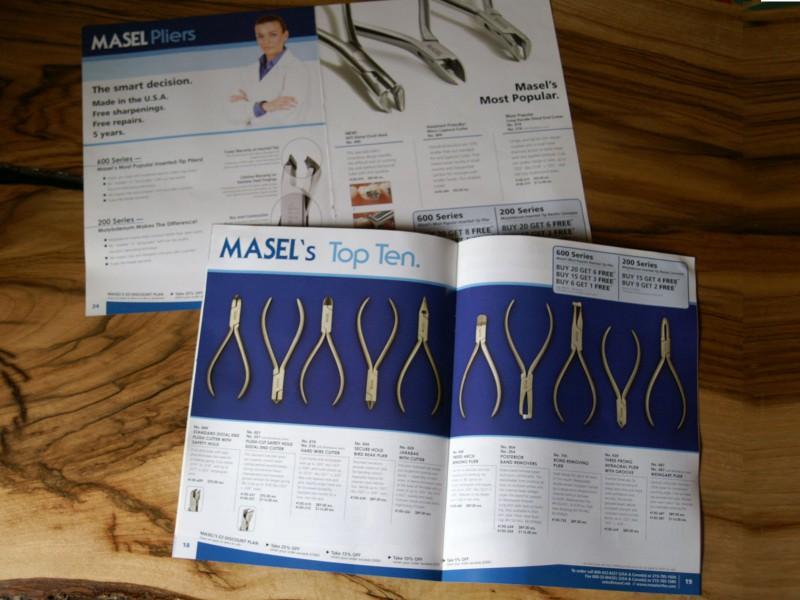 Masel Pliers branding spreads