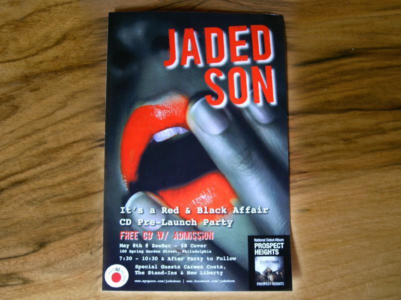 "Jaded Son ""It's a Red and Black Affair"" Record Release Party Poster"